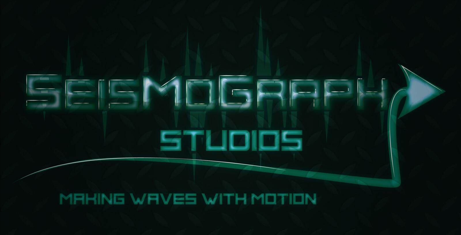 Seismograph logo design coloured