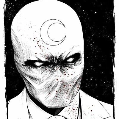 Donny d tran moon knight red stars