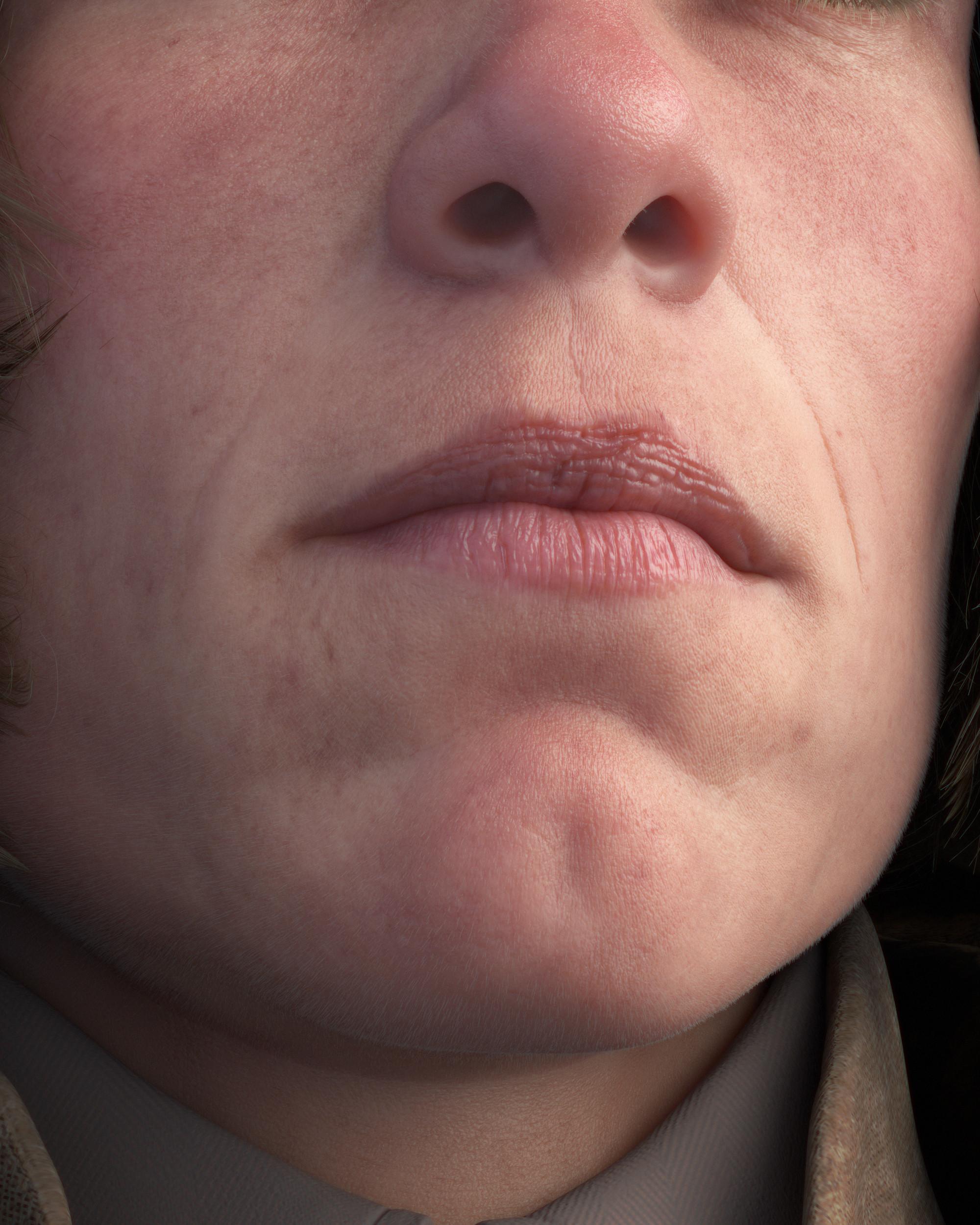 Closeup on face shader
