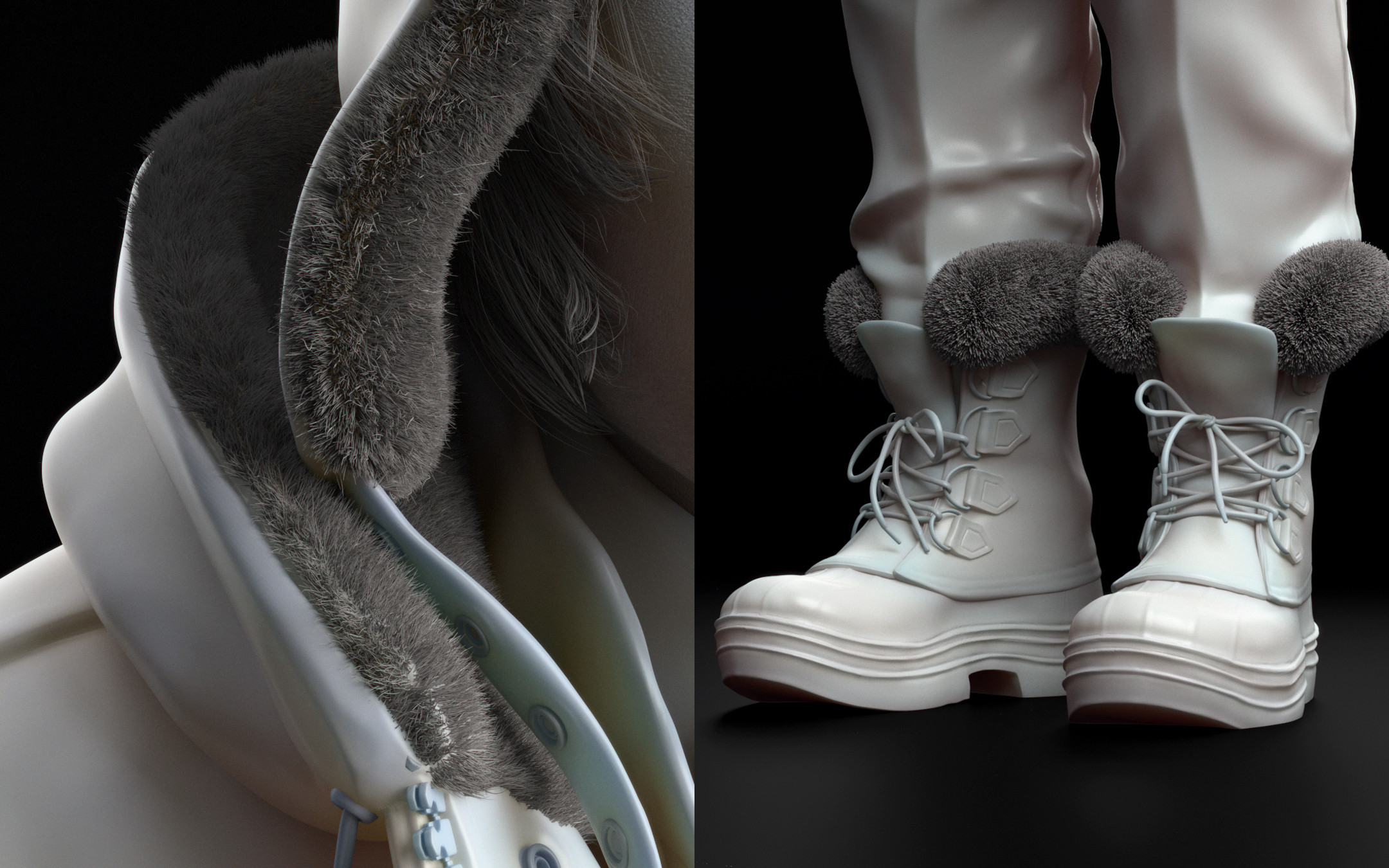 Closeups on clothes and boots