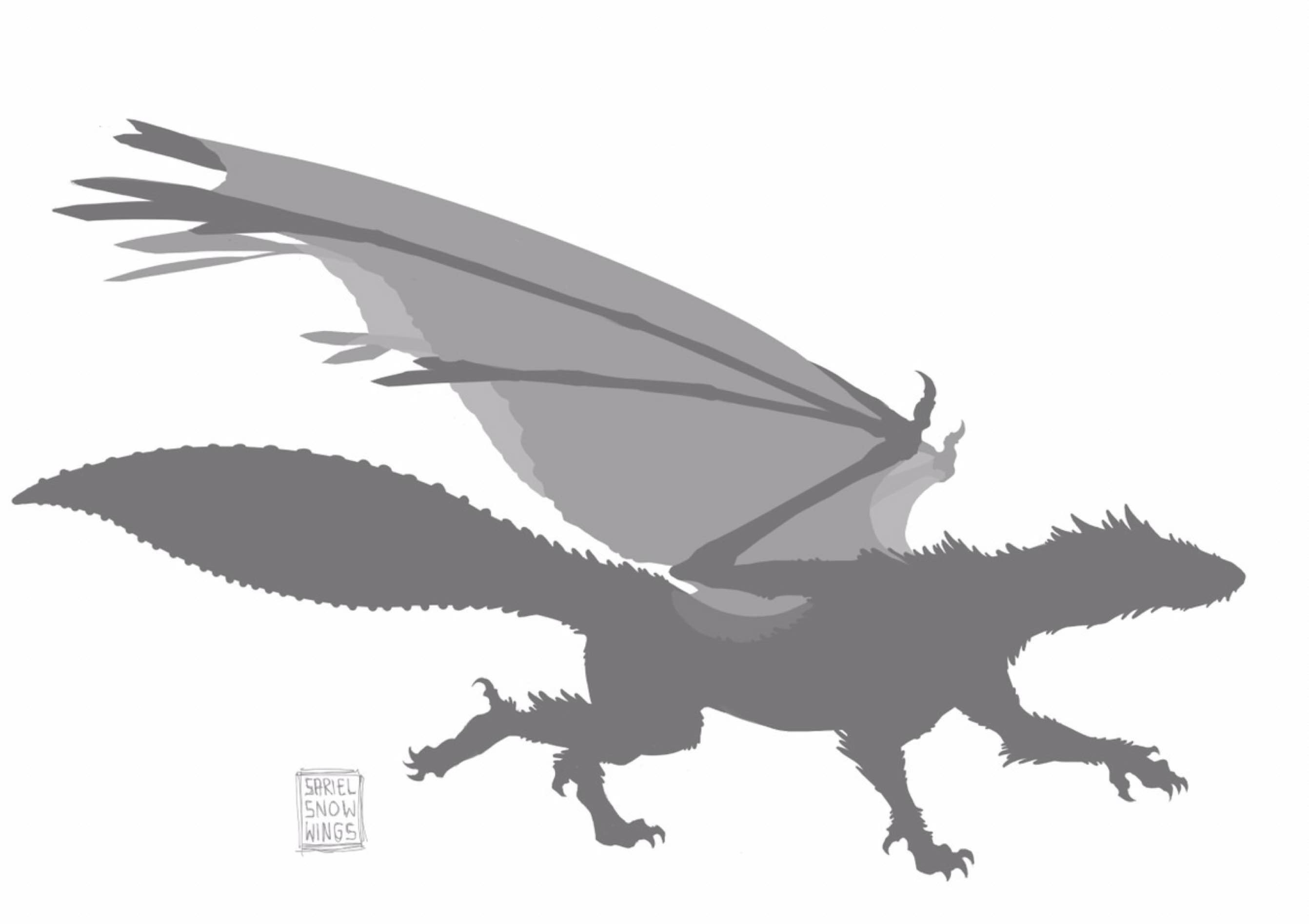 Mixed my favourite ideas from the figure phase into a final silhouette that conveyed a quick and agile demeanour for this particular dragon.