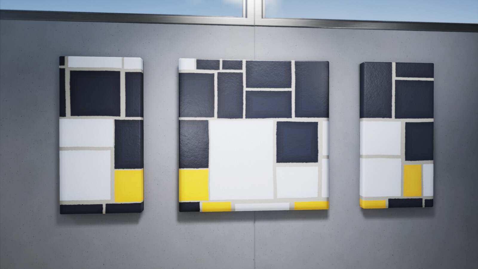 A few close-ups of the paintings in Unreal