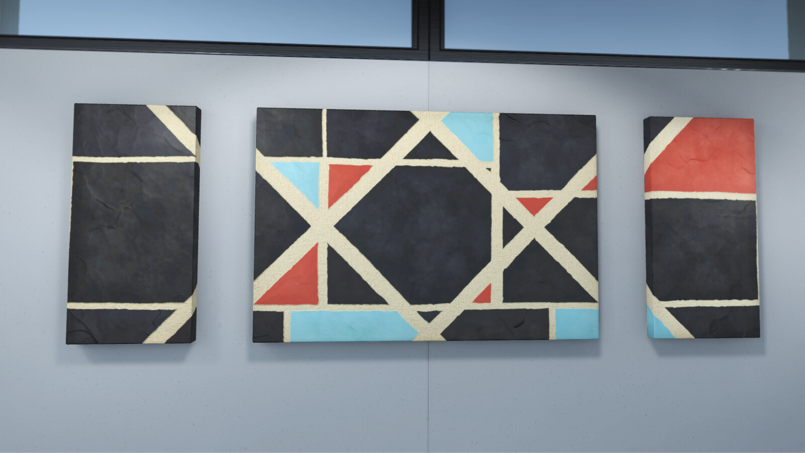 A couple close-ups of the paintings in Unity