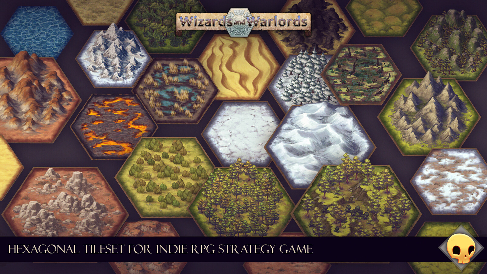 Overview of the tiles created for the tileset