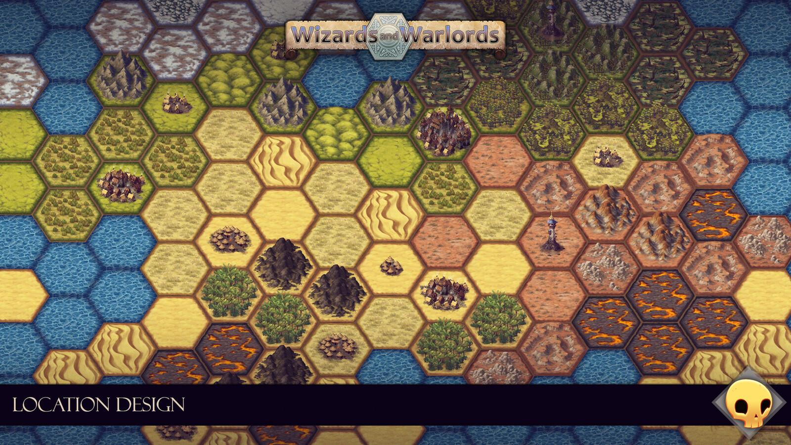 Test assembly of the tileset, using Unity's hexagonal tilemaps