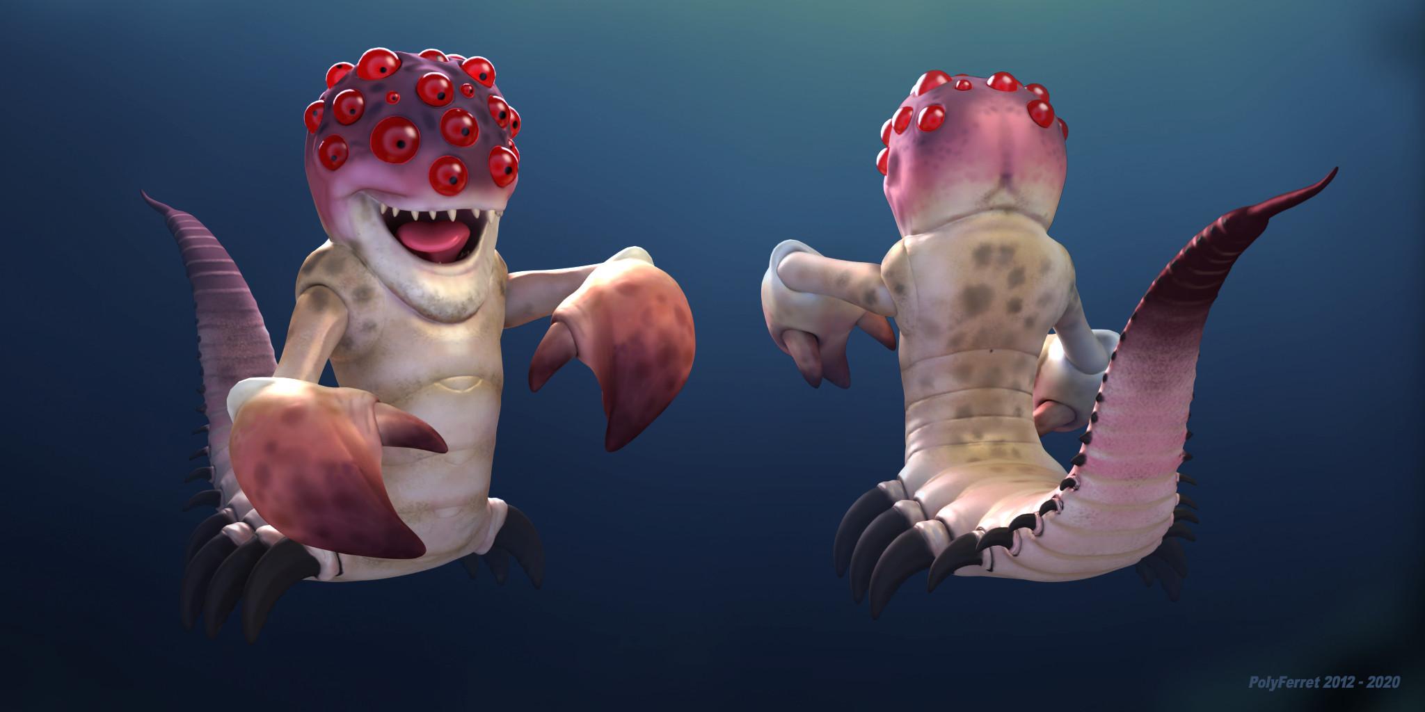 New render for Alien Lobster.