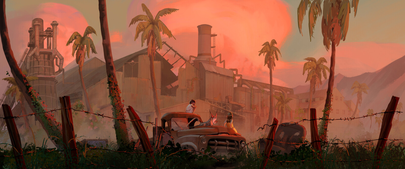 Sunset by the Sugar Mill