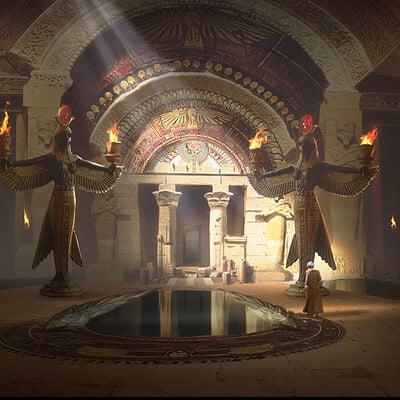 Huijun yoli shen 2 egypt temple