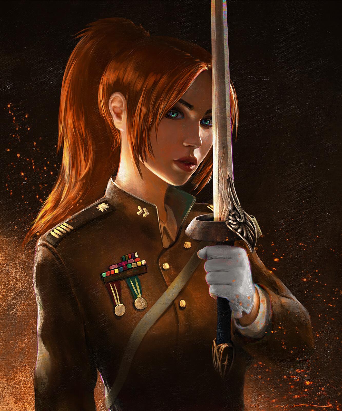 Tyria LaFrey D&D Character Portrait