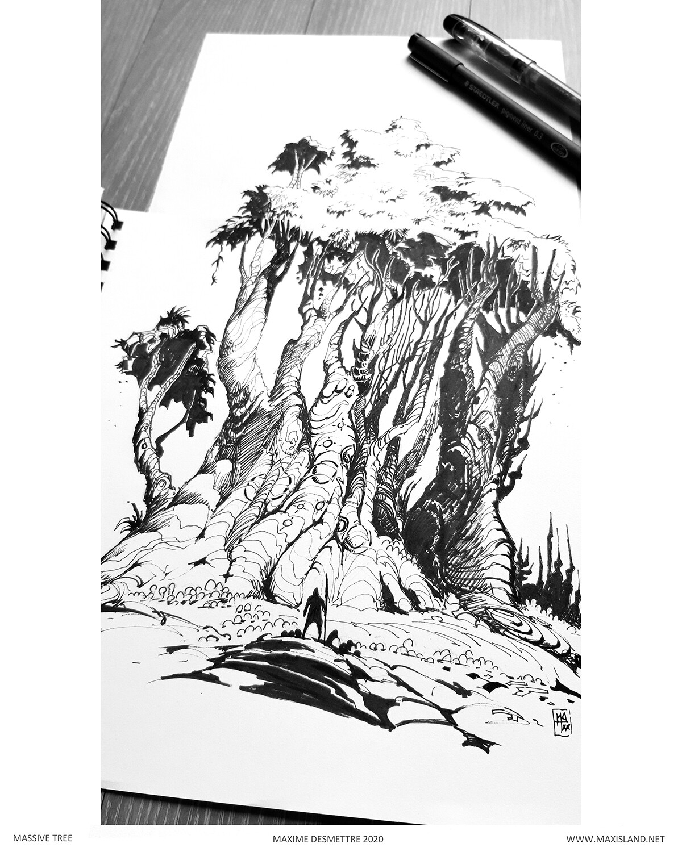 Initial sketch Pen & Paper