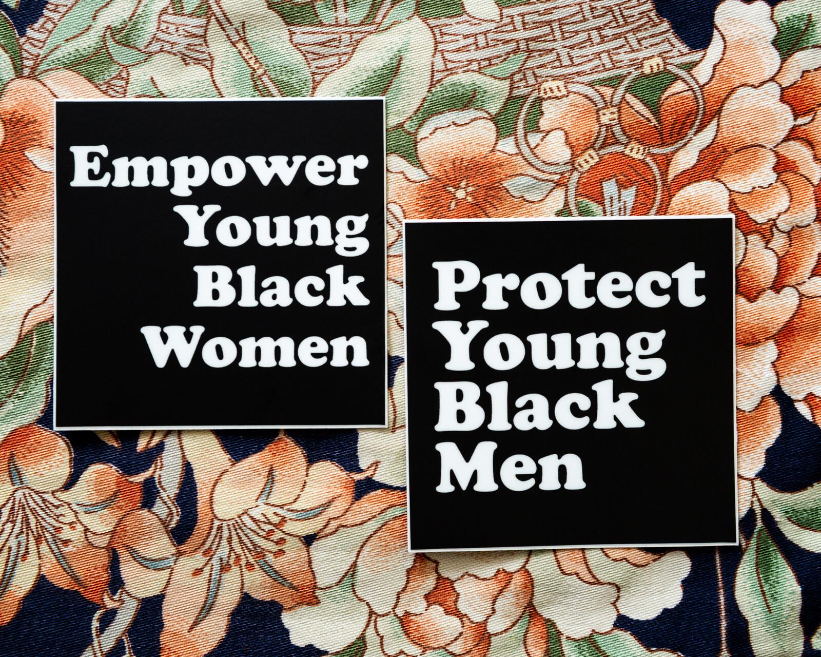Racial justice sticker designs.
