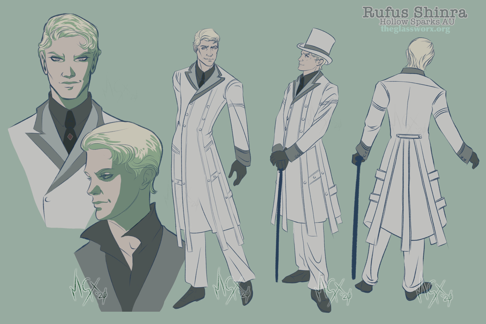 Fan Art: Rufus Shinra - Hollow Sparks AU - Final Fantasy VII: Remake
