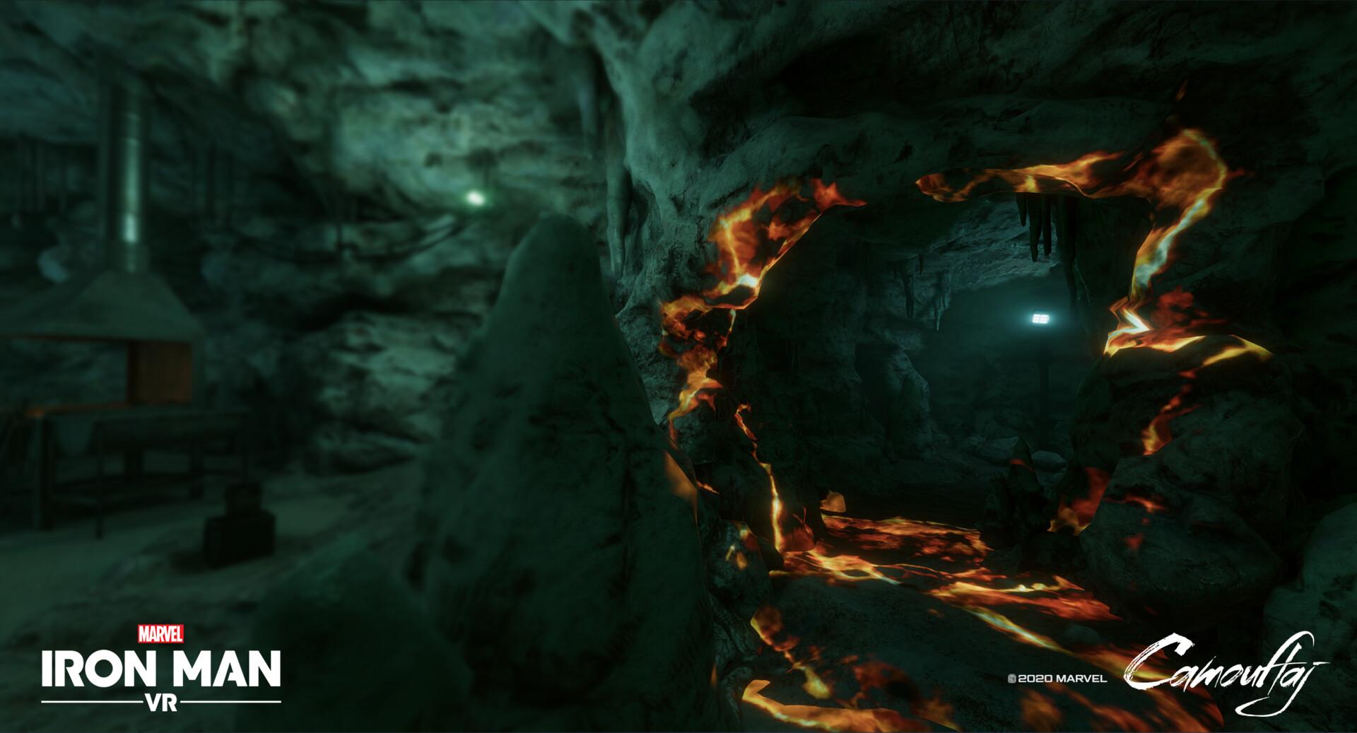 Cave Blasted Entrance Model. VFX by Brandan Vanderpool.