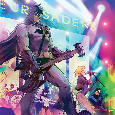 Andrew griffith batmanandthecrusaderscolorrgb