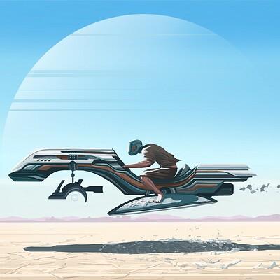 Logan walden skyy on hover bike