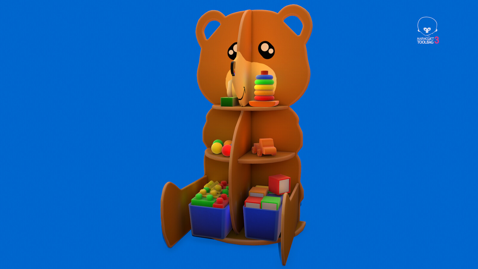 Stylized Children Toys Shelf