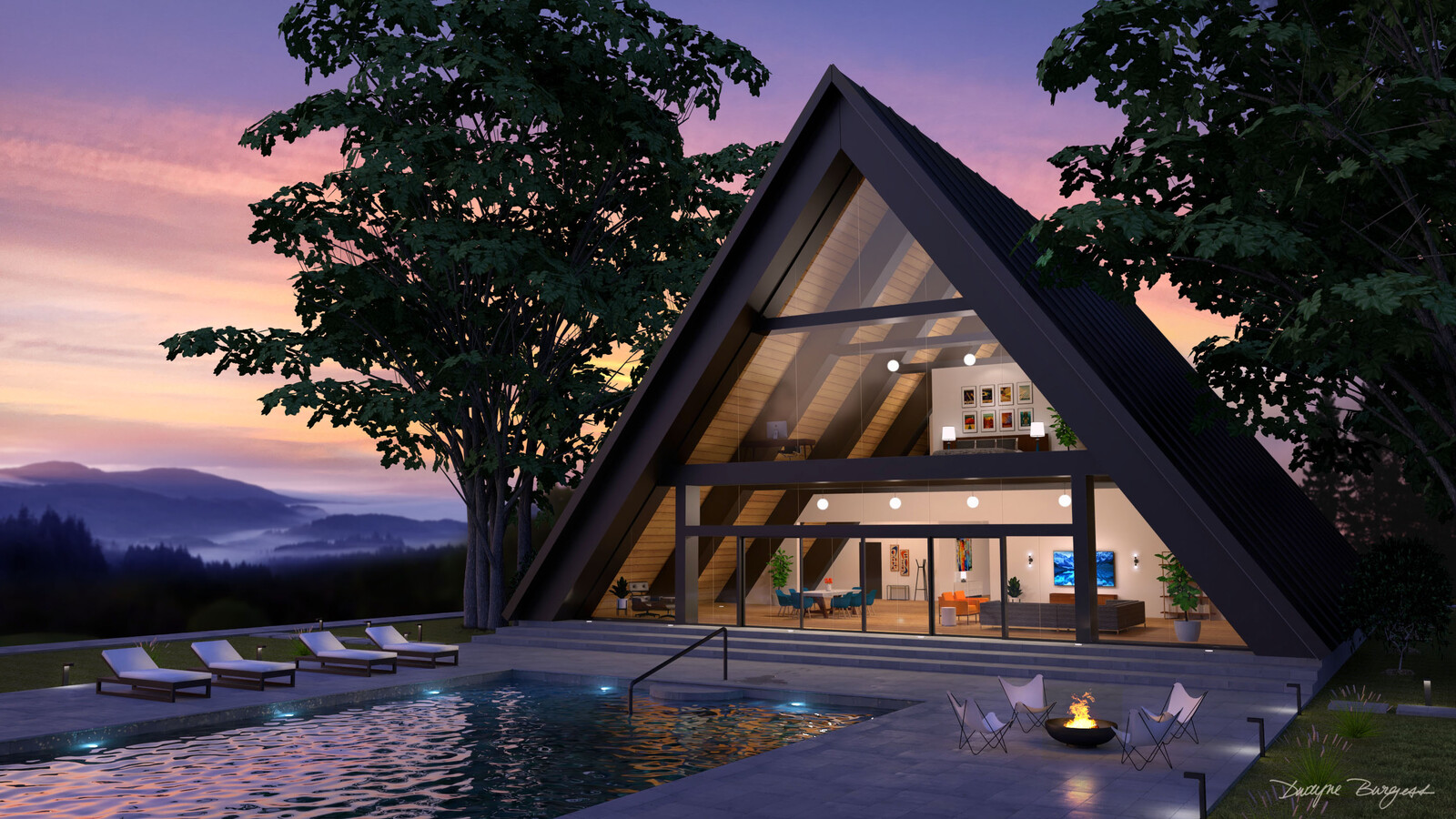 A-Frame Mountain House