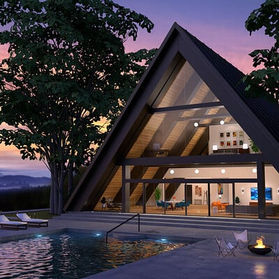 A-Frame Mountain House