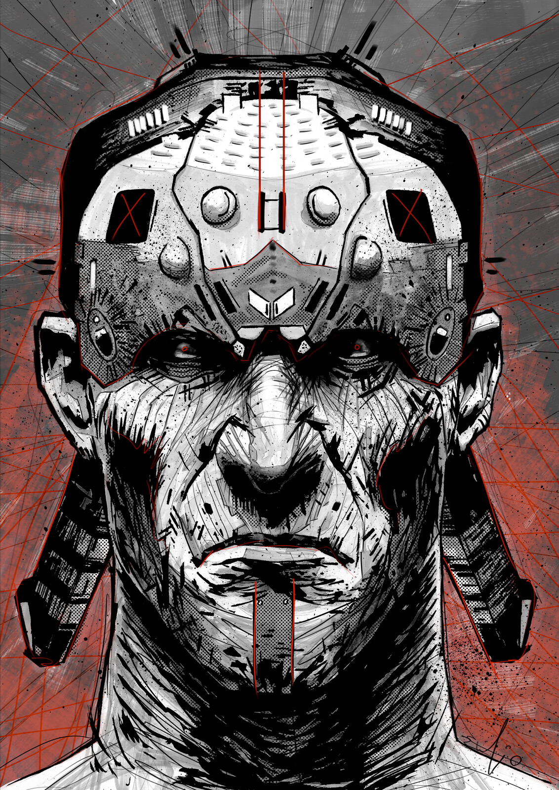 Lz Face 009 // SIOUx-BORG