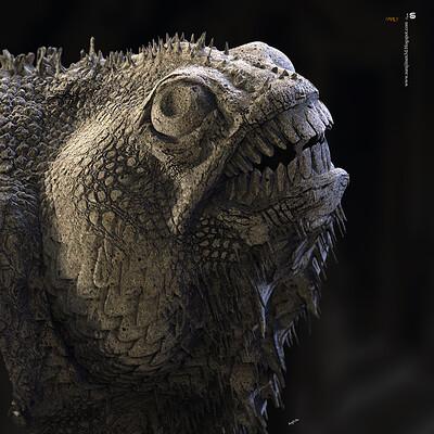 Surajit sen camelian hex block digital sculpture surajitsen jul2020aa