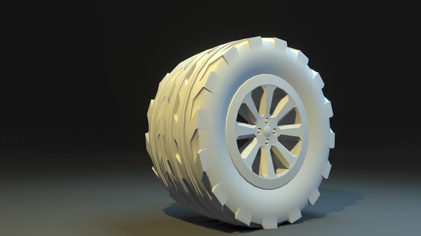 Truck Wheel  no Texture