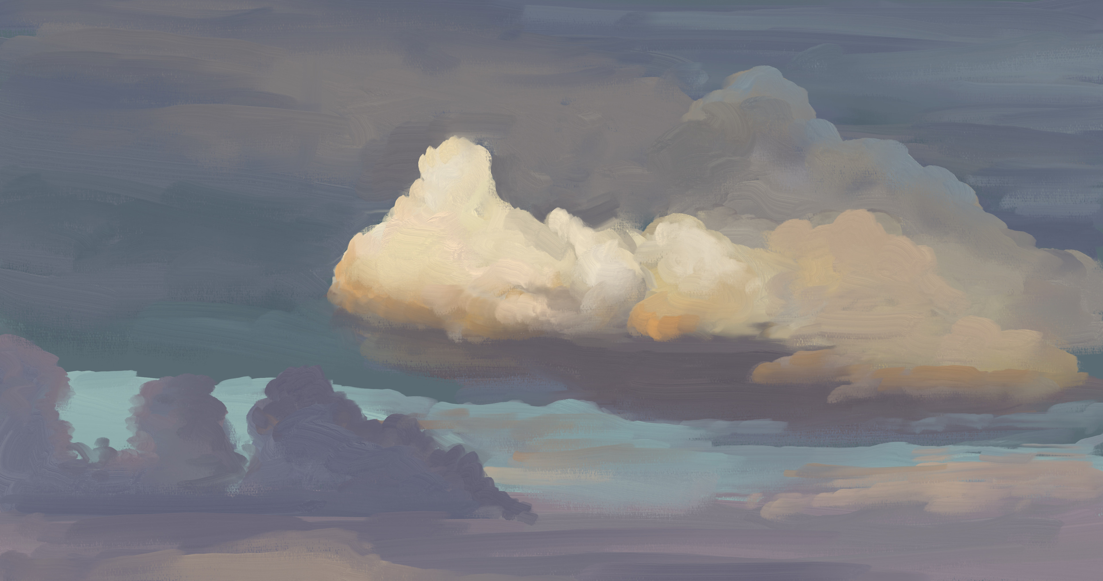 Cloudy Sky Study
