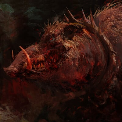 Antonio j manzanedo demon possessed wild boar manzanedo