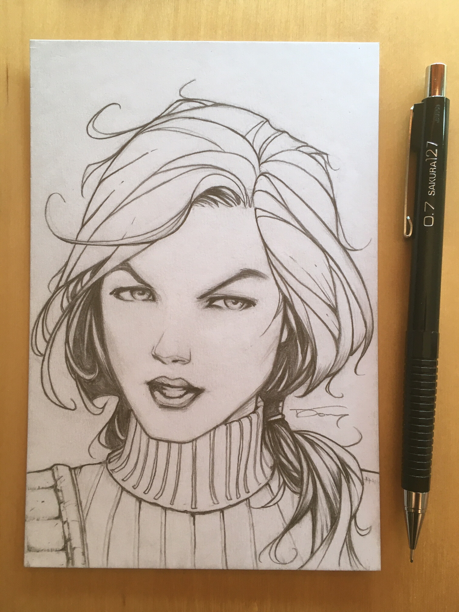 G.I. Joe's Scarlett head sketch. Drawn in pencil on 100 lbs white card stock 4 x 6 inch  If you're interested in a commission like this one, please visit my shop for more details! https://donnydtran.bigcartel.com/