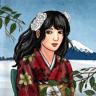 Fortunus games kimono illustration