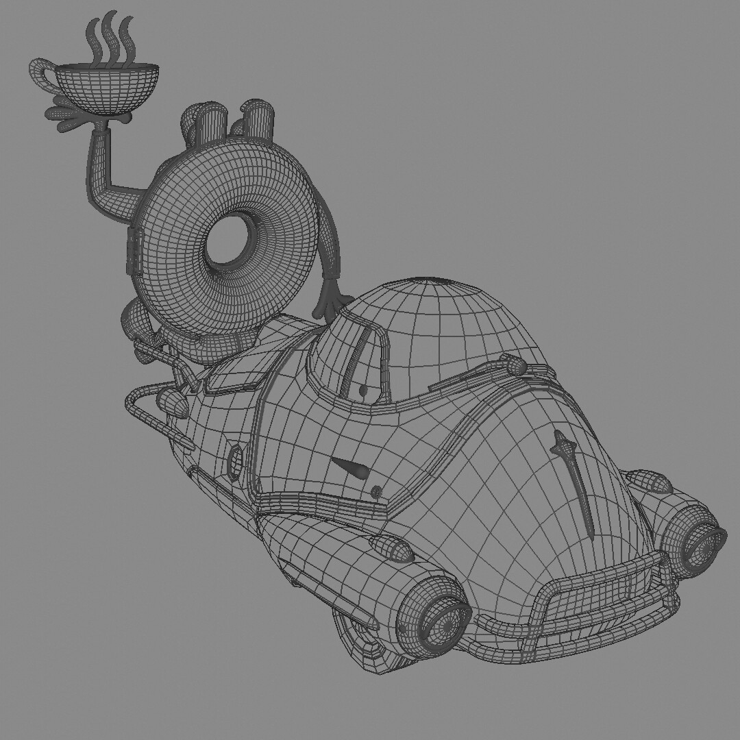 Blender Wireframe View