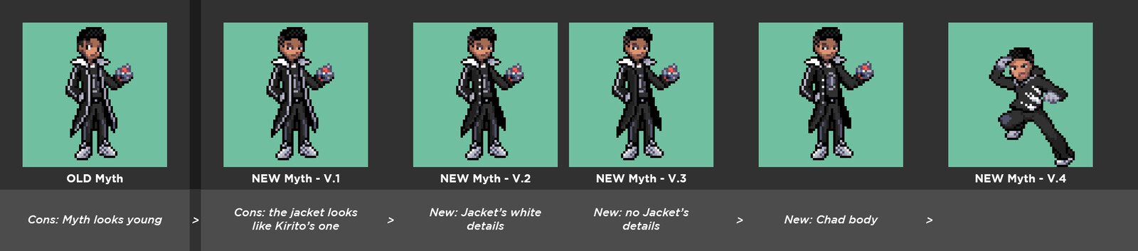 Unused Myth Battle Sprite + Variations