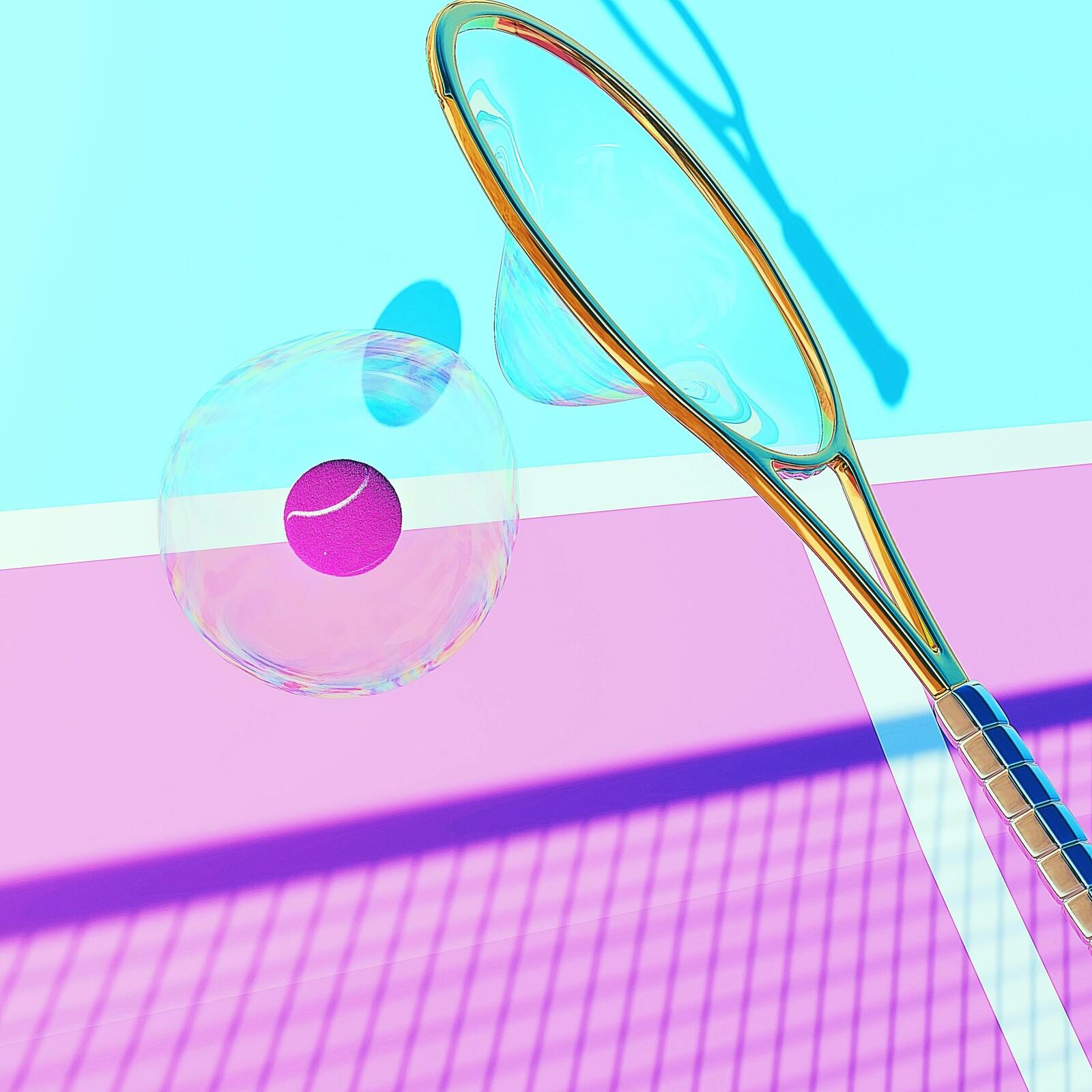 tennis bubbles