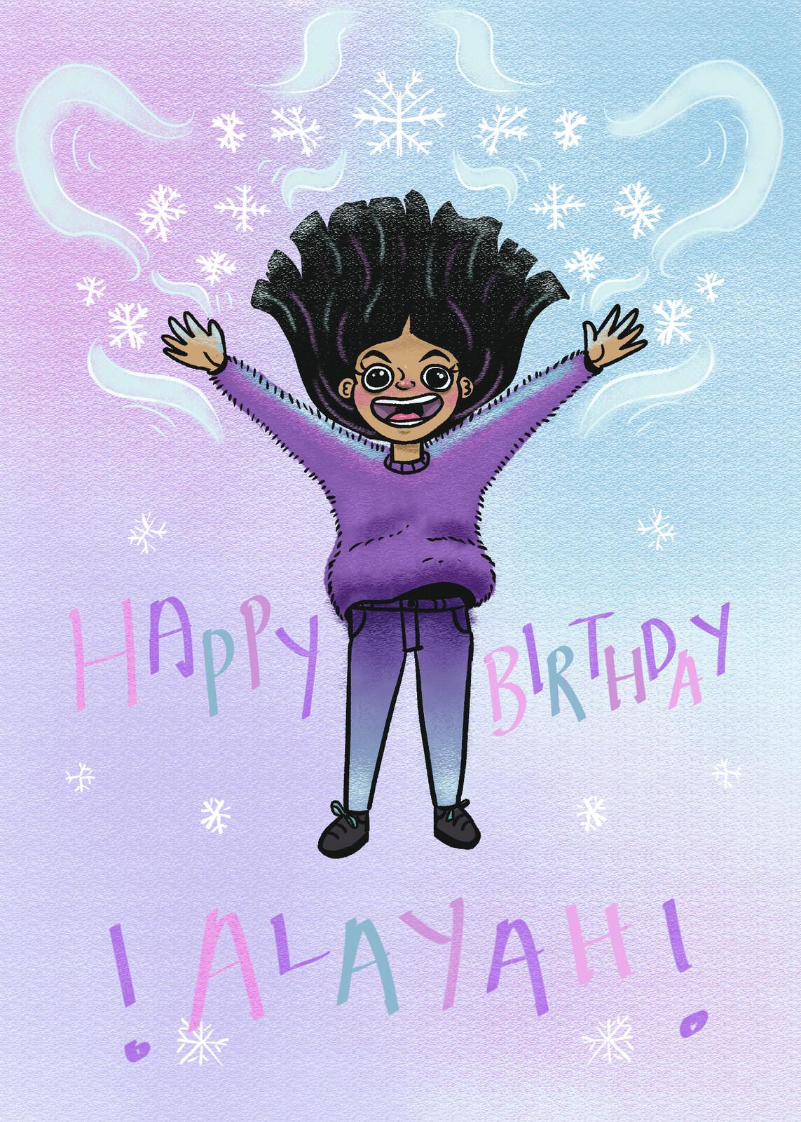 A birthday card I drew for my boyfriends niece.