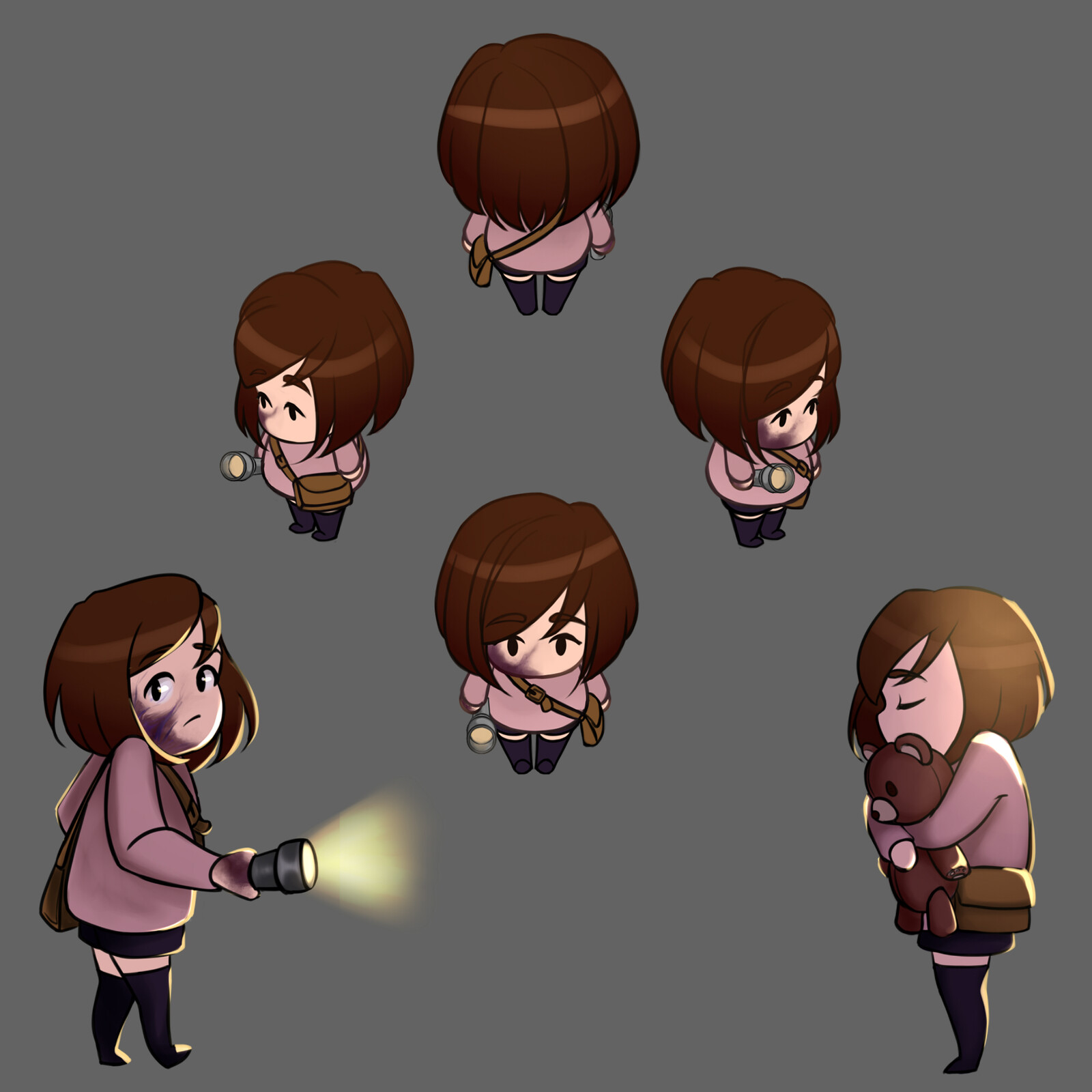 Mina's sprites for the gamejam version & main menu & win screen doodles