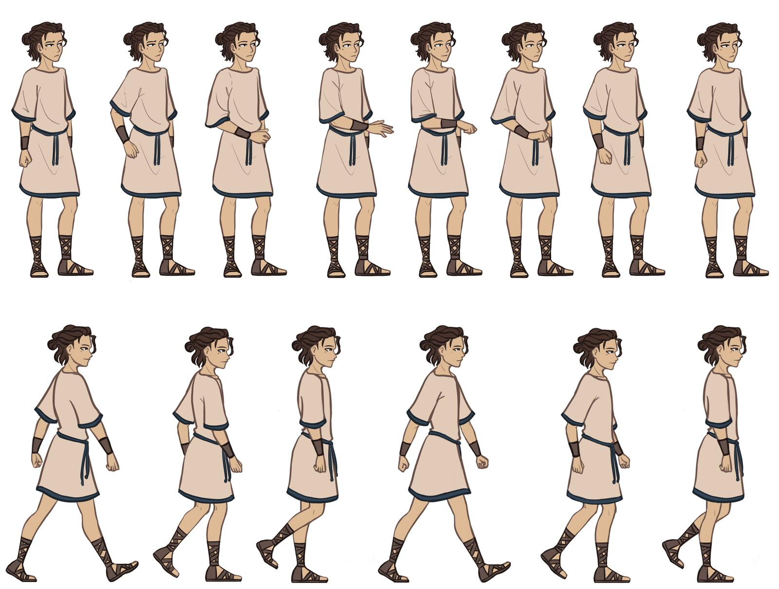 Picking up item & walking animation