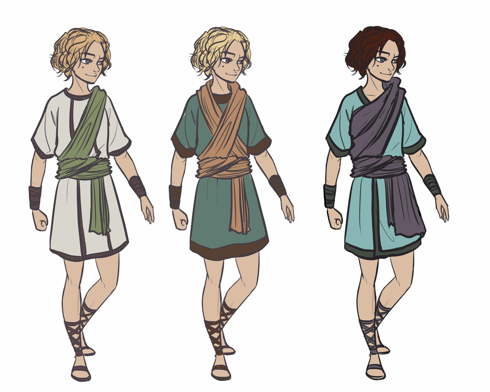 main character - color variations