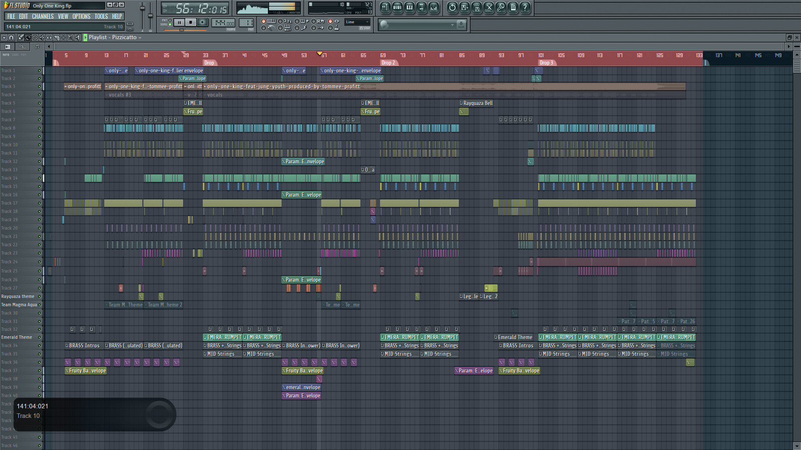 Only One Pokemon King remix - FL Studio Project screenshot