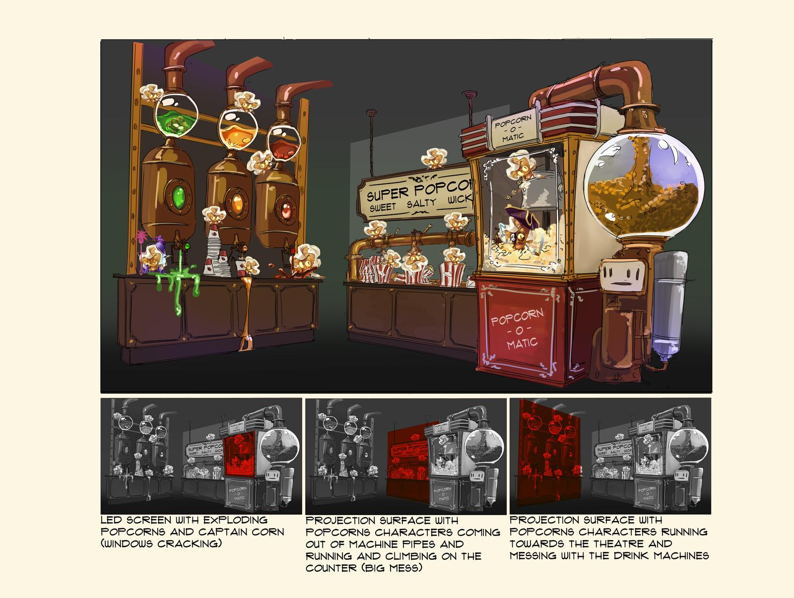 Popcorn machine concept
