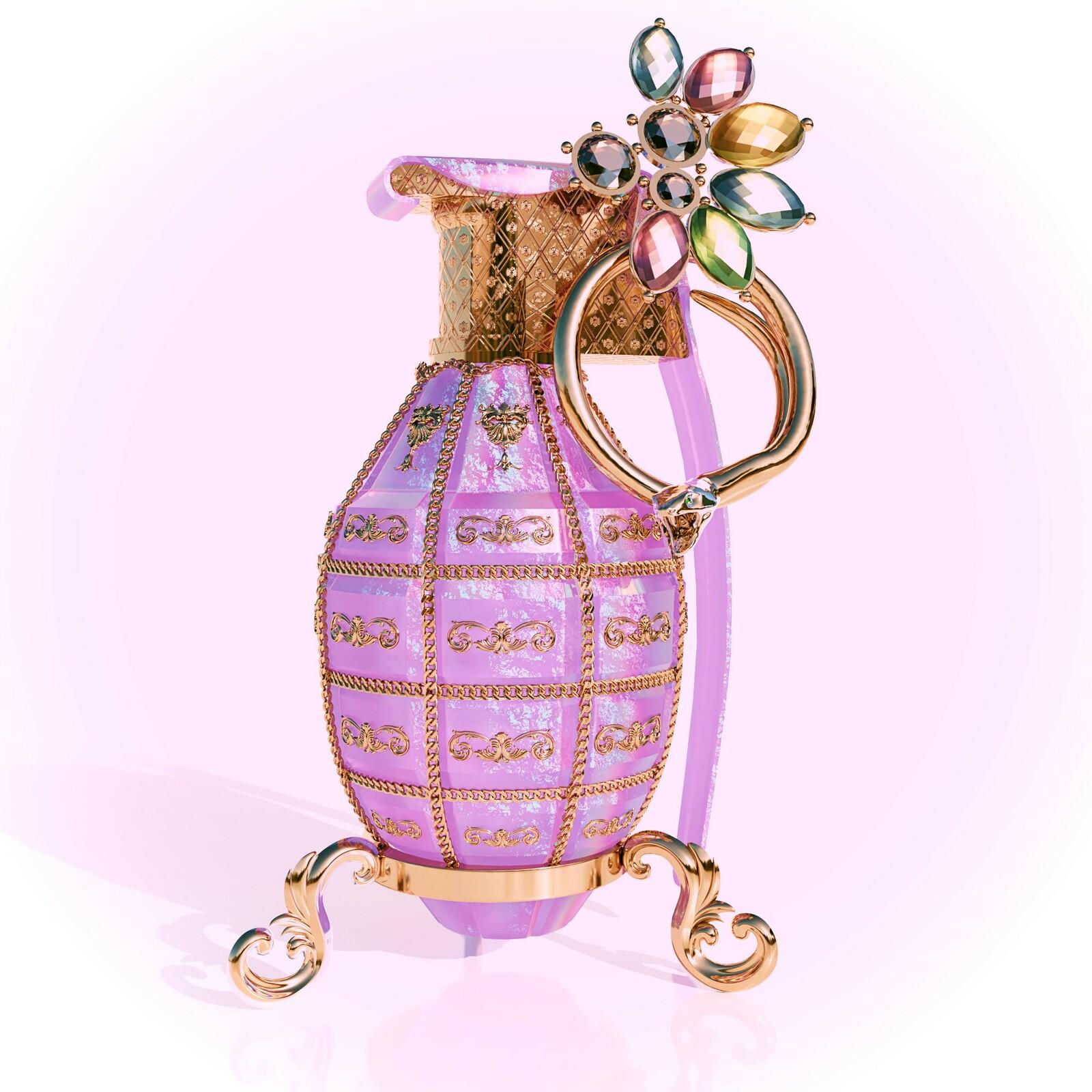 Pyrobolus Convenusto - Pink opal