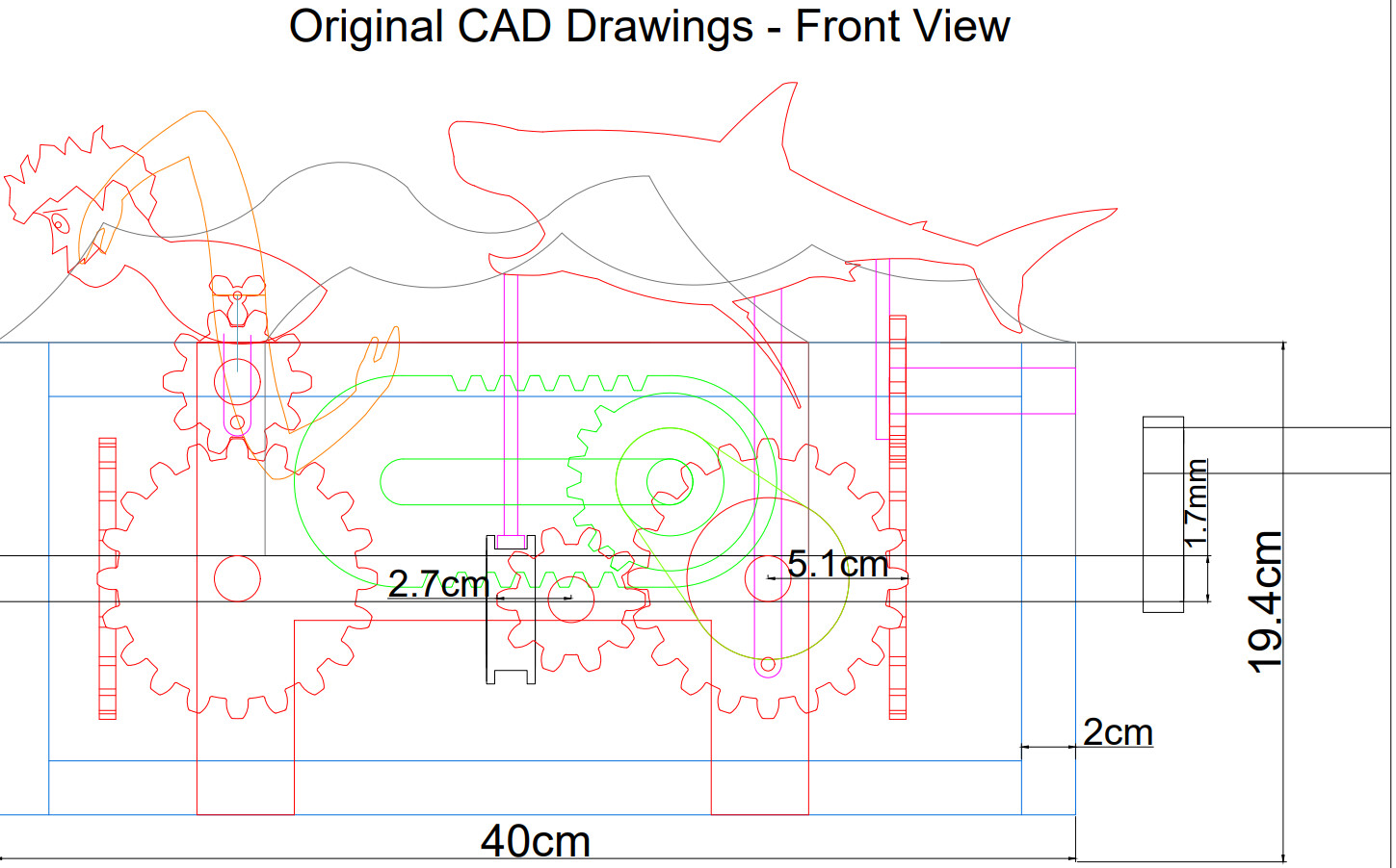 AutoCAD Drawing Front