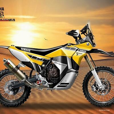 Oberdan bezzi yamaha tenere 700 rally racer desert