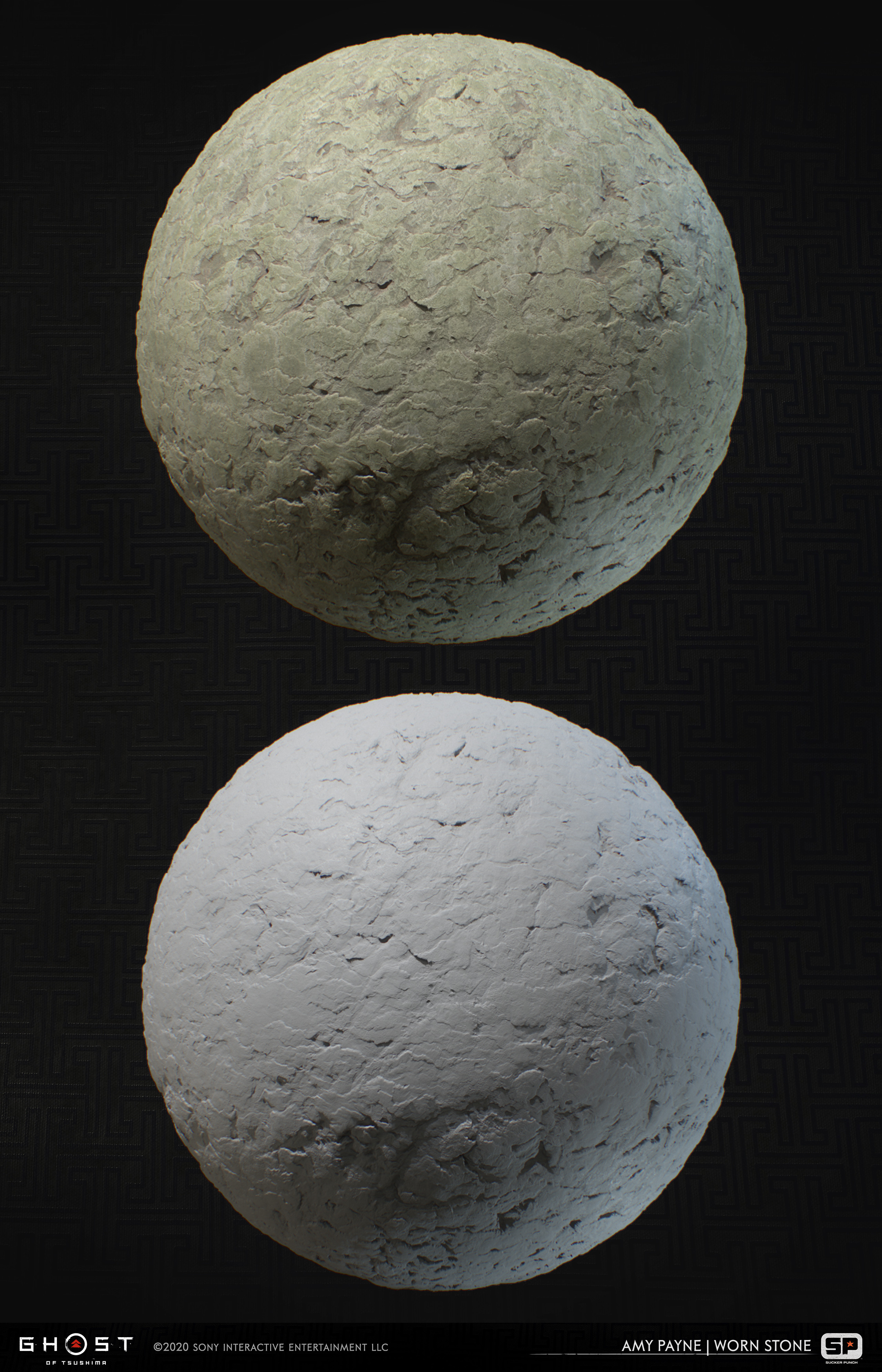 Rough stone created for use in mossy areas. 100% Substance Designer.