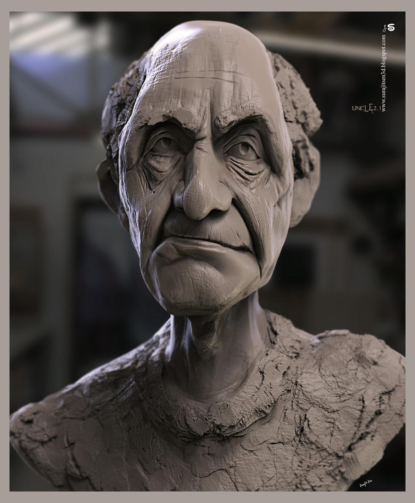 #todaystudy #todayssculpture uncle2.1 Digital Sculpture Quick Sculpting Study works Background music- #hanszimmermusic