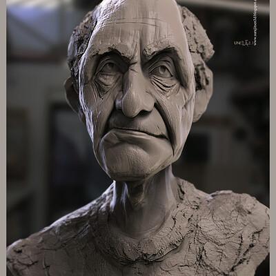 Surajit sen uncle 2 1 digital sculpture surajitsen aug2020a
