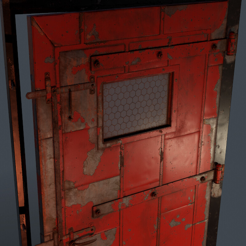 Steel Door - (Horror Corridor)