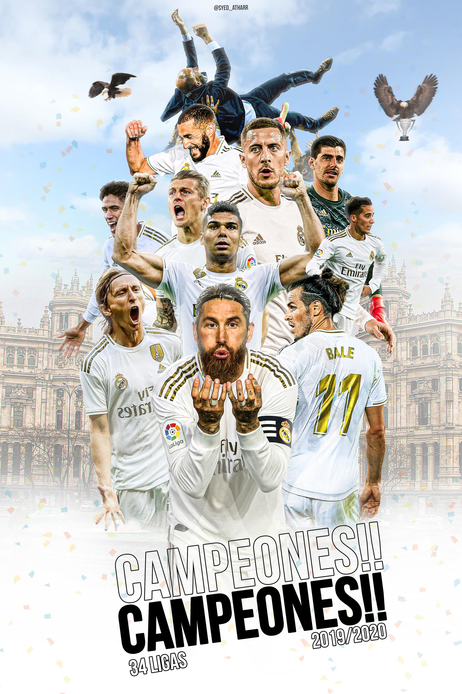 Artstation Real Madrid Laliga Winners 2020 Syed Athar