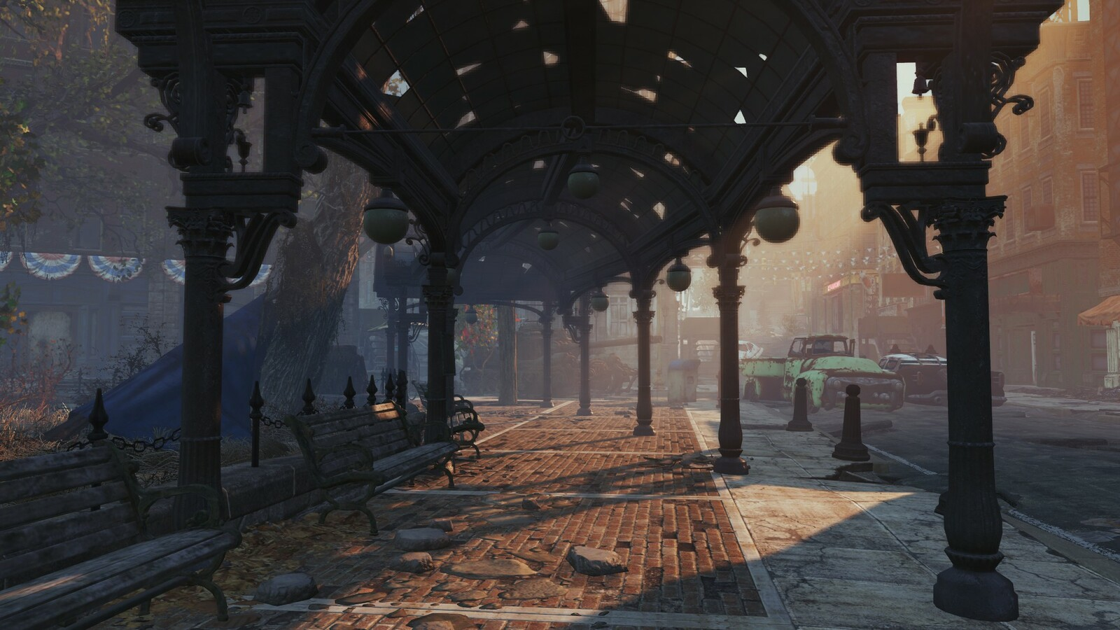 All renders are in game screenshoots. Fallout 4 use Creation Engine.