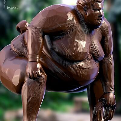 Surajit sen jacky2 0 digital sculpture surajitsen aug2020b