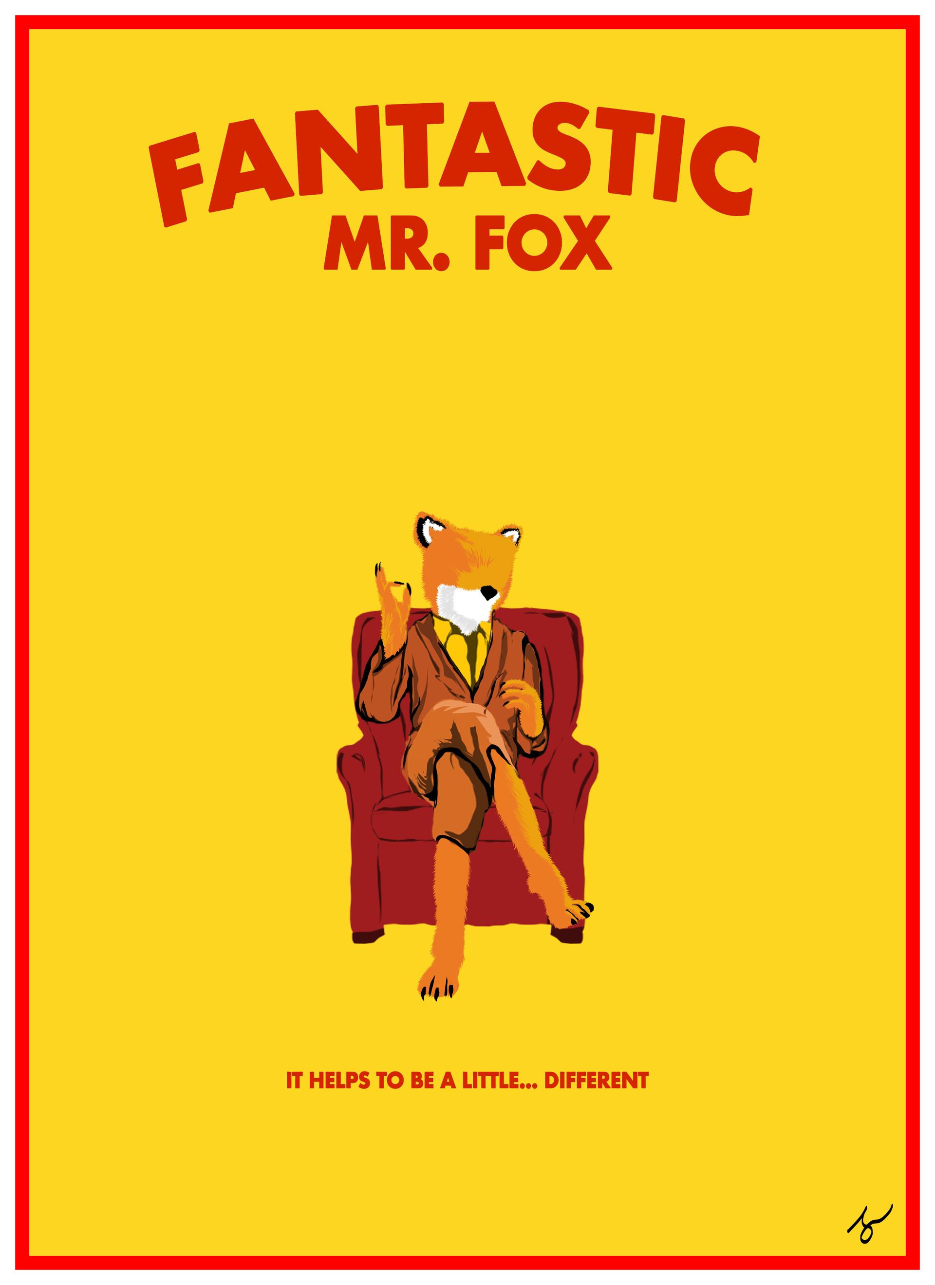 Artstation Fantastic Mr Fox Fan Poster Christian Medina