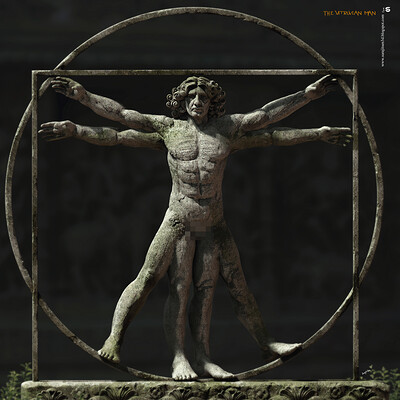Surajit sen the vitruvian man digital sculpture by surajitsen aug2020a